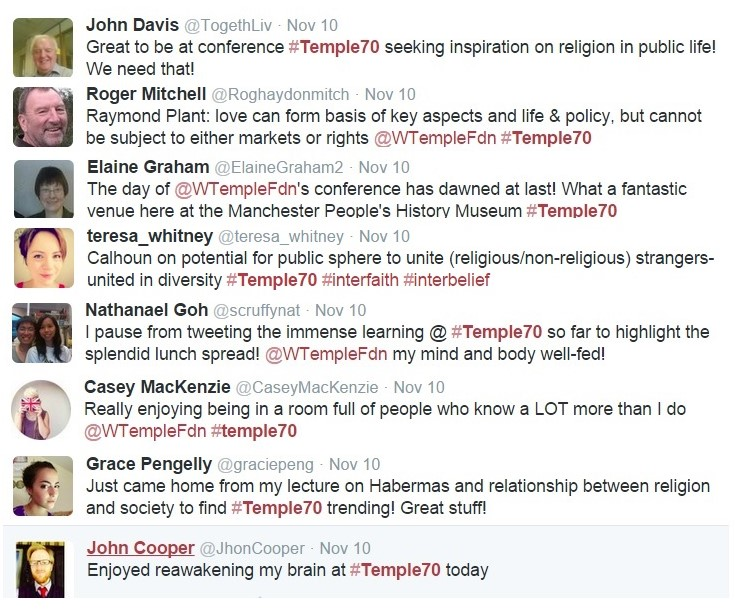 Tweets #Temple70