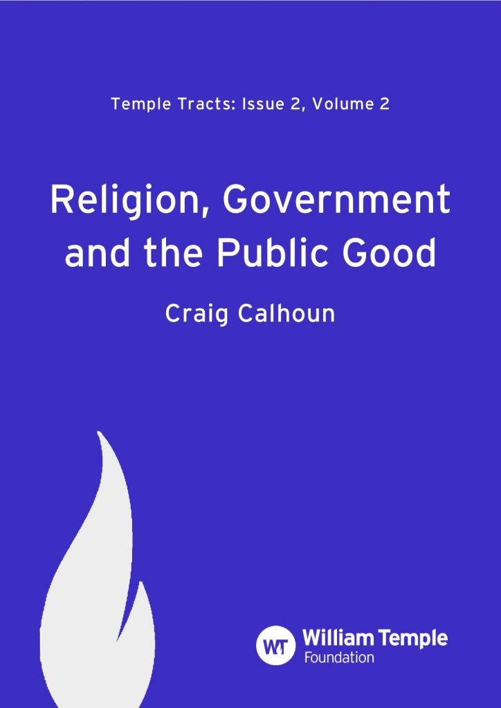 Religion, Government and the Public Good